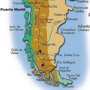 carte Patagonie Chili